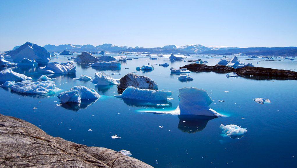 La fonte de la calotte glaciaire du Groenland