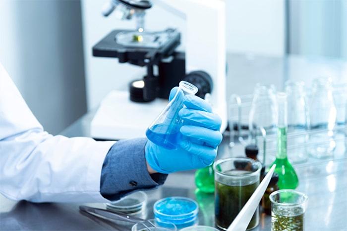 Test de vaccin en laboratoire