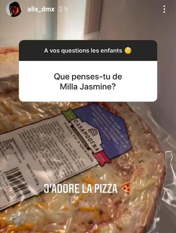 La réponse d'Alix sur Instagram