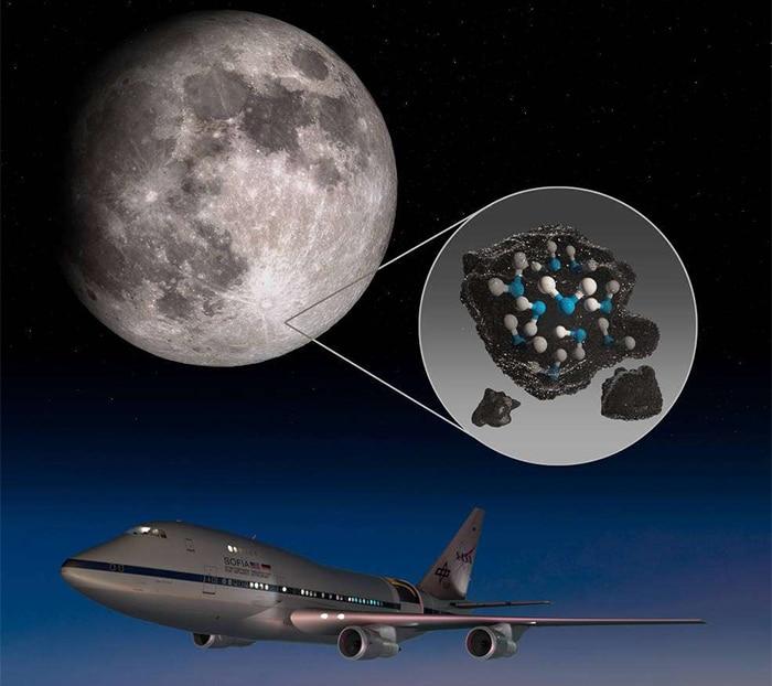Les observations de Sofia le prouvent : il y a de l'eau dans le régolite lunaire.