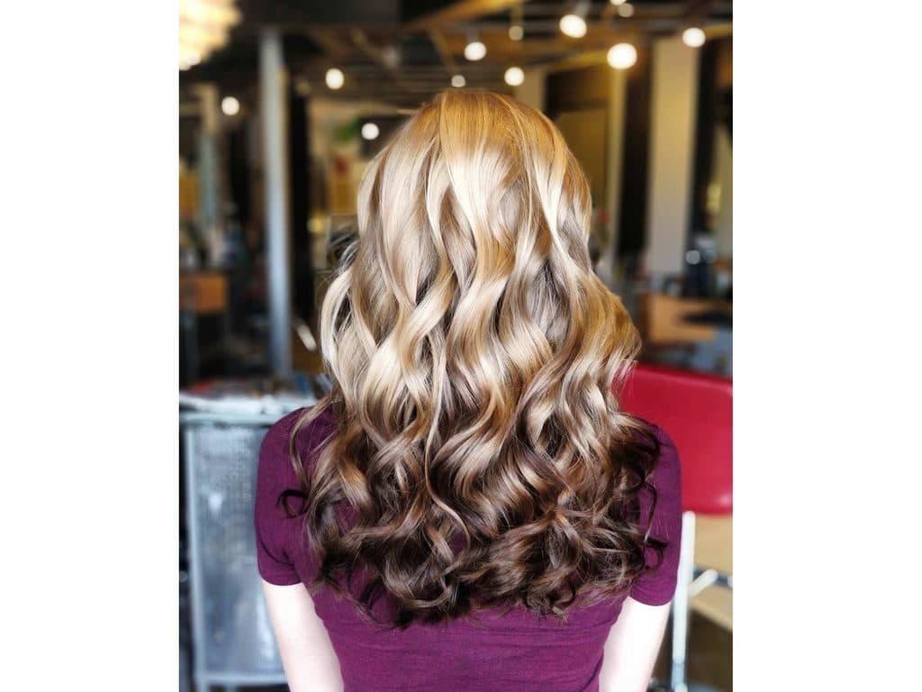 Balayage inversé coupe cheveux