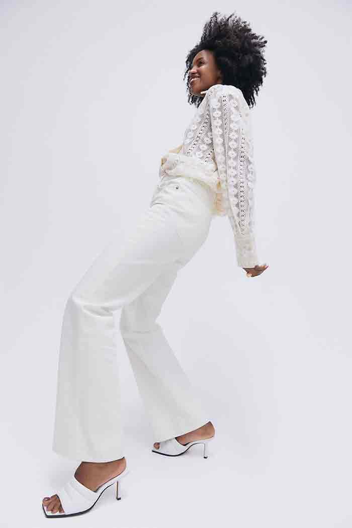 Jean blanc H&M été